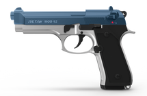Retay Mod 92 - 9MM Blank Firing Pistol in Chrome & Blue