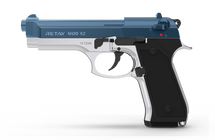 Retay Mod 92 - 9MM Blank Firing Pistol in Nickel & Blue