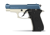 Retay Mod 92 - 9MM Blank Firing Pistol in Satin & Blue