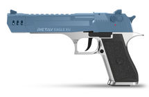 Retay Desert Eagle XU - 9MM Blank Firing Pistol in Nickel & Blue