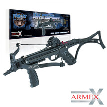 Armex Tomcat II Pistol Crossbow 80lb Self Cocking Pistol with Stock