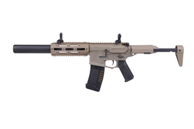 Ares Amoeba Honey Badger AEG with Silencer in Tan