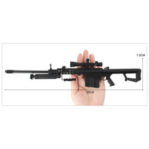 Barrett M82A1 .50 Cal Metal Die Cast Toy Sniper Replica 3:1 scale in Black
