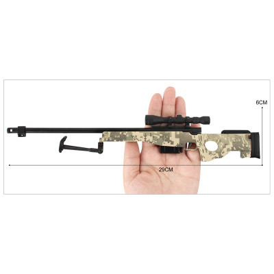 L96A1 AWM Metal Die Cast Sniper Replica 3:1 scale in Camo