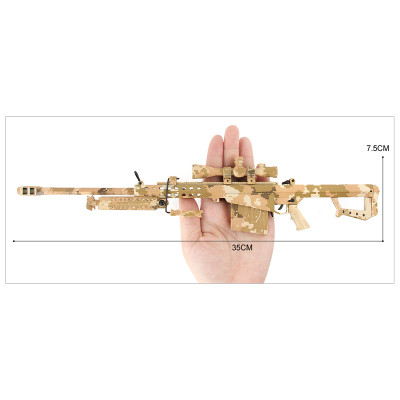 Barrett M82A1 .50 Cal Metal Die Cast Toy Sniper Replica 3:1 scale in Desert Camo