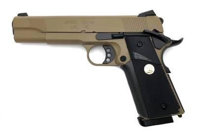 Army Armament M1911 hi kick GBB Full Metal in Desert Tan