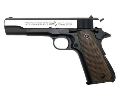 Army Armament R31-Y M1911 Replica GBB Full Metal in Black/Silver