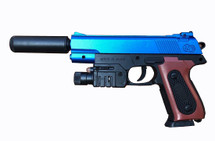 Vigor 238AS spring pistol with light & laser in Blue