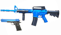 Vigor 9902 M4 Rifle & M1911 Pistol Combo Pack in Blue