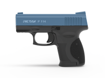 Retay P114 - 9MM Blank Firing Pistol in Blue