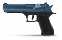 Retay Eagle X - 9MM Blank Firing Pistol in Nickel & Blue