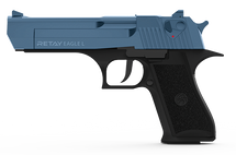 Retay Eagle L - 9MM Blank Firing Pistol in Nickel & Blue