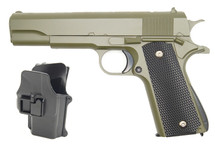 Galaxy G13H Full Metal BB Gun in Green with Holster