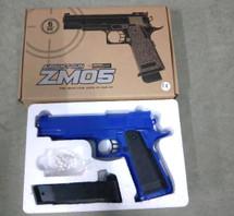 Cyma ZM05 Colt 1911 replica BB Pistol Gun in Blue