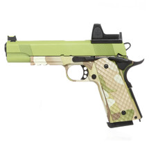 Raven M1911 BDS - MEU Railed Camo Frame with Green Slide