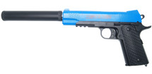 CYMA C10A+ Government Model Pistol in Full Metal With Silencer