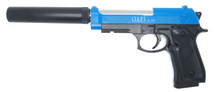 CYMA C19+ - Replica M92 - Metal Top Slide & Silencer in Blue