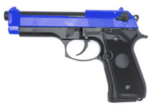 WELL G195 92FS Co2 GBB Full Metal Pistol in Blue