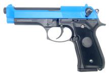 WELL G195 92FS Co2 GBB Full Metal Pistol in Blue