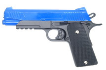 Galaxy G38 Full Scale 1911 Pistol in Full Metal in Blue