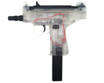 Blackviper Micro UZI Electric BB Gun in Clear