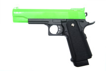 Galaxy G6 M1911 Full Metal Pistol BB Gun in Radioactive Green