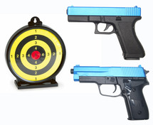 "Vigor C14 Spring Pistol 2 Players Pack with 6"" target"