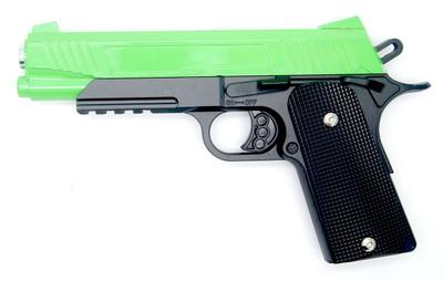 Galaxy G38 Full Scale 1911 Pistol in Full Metal in Radioactive Green