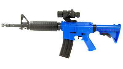 Well D2804 M16 fully auto BB Gun in Blue