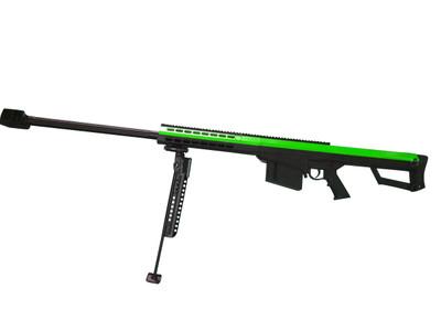 Barrett M82A1 bolt action sniper rifle in Green & black