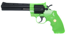 Galaxy G36 Revolver spring powered 6-inch barrel in Radioactive Green