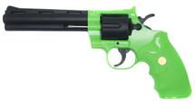 Galaxy G36 Revolver spring powered 6-inch barrel in Radioactive Green
