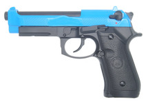 Double Bell 736 - M92 GBB BB Gun Pistol in Blue