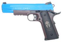 Double Bell 785 - M1911 GBB ΜΟΛΩΝ ΛΑΒΕ (Molon Labe) Pistol in Blue