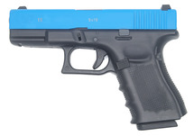 Double Bell 772- G19 Gen 4 GBB Airsoft Pistol in Blue