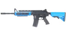 D|Boys M4 Full Metal AEG with Tactical Stock in Blue