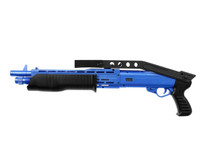 HFC HA239 Pump Action Shotgun with folding stock in Blue