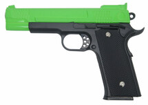 Galaxy G20 Full Scale M945 Pistol in Full Metal in Radioactive Green