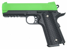 Galaxy G25 K Warrior Full Scale Metal pistol in Radioactive Green