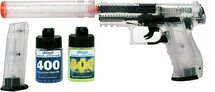 Umarex USA Walther PPQ Spring Pistol Kit with Pellets in Clear