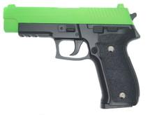 Galaxy G26 P226 Full Metal Pistol With Rail in Radioactive Green