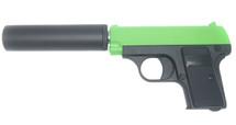 Galaxy G1A Full Metal BB Gun with Silencer in Radioactive Green