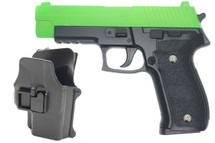 Galaxy G26H P226 Full Metal Pistol with Holster in Radioactive Green