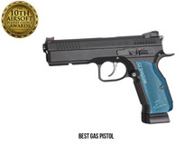 ASG CZ Shadow 2 Co2 Blowback Pistol with Blue Grip in Black