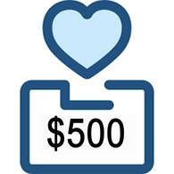 $500 Charitable Donation