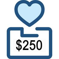 $250 Charitable Donation
