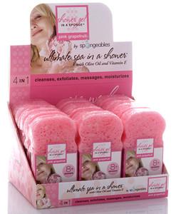 Pink Grapefruit Sponge - Case of 12