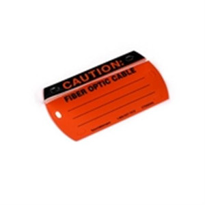 Caution Write-On Self-Laminating Tag (CT2003X2)