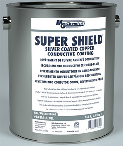 SUPER SHIELD™ Silver Coated Copper Conductive Coating - UL Recognized (Pre-diluted) (mg_843AR-3.78L)