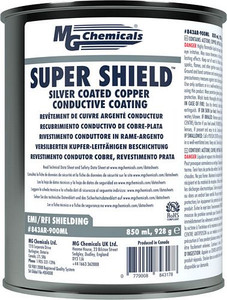 SUPER SHIELD™ Silver Coated Copper Conductive Coating - UL Recognized (Pre-diluted) (mg_843AR-900ML)